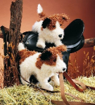 plyšový Jack russell teriér, plyšová hračka