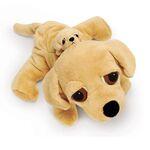 plyšový Labrador Barney s miminkem