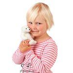plyšový Lední medvěd na prst, plyšová hračka