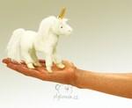 plyšový Maňásek na prst jednorožec, plyšová hračka
