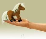 plyšový Maňásek na prst kůň 1+1 ZDARMA, plyšová hračka