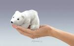 plyšový Maňásek na prst lední medvěd 1+1 ZDARMA, plyšová hračka