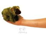 plyšový Maňásek na prst medvěd grizzly