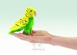 plyšový Maňásek na prst papoušek Andulka 1+1 ZDARMA