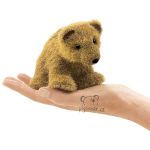 plyšový Medvěd grizzly na prst, plyšová hračka