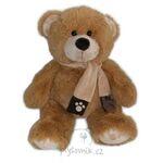 plyšový Medvěd se šálou, plyšová hračka