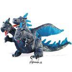 plyšový Modrý tříhlavý drak, plyšová hračka