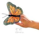 plyšový Motýl na prst