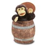 plyšový Opice v sudu, plyšová hračka
