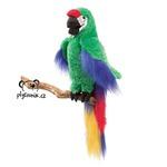 plyšový Papoušek ara zelený, plyšová hračka