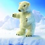 plyšový Stojící lední medvěd