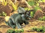 plyšový Triceratops