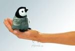 plyšový Tučňák císařský na prst, plyšová hračka