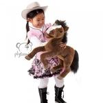 plyšový Velký kůň, plyšová hračka