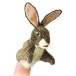 plyšový Zajíc maňásek na ruku, plyšová hračka