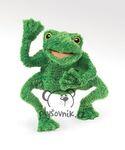 plyšový Zelený žabák