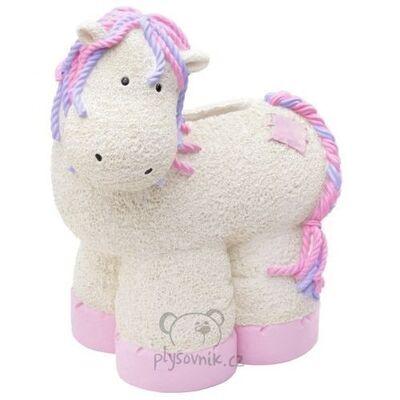 Plyšová hračka: Pokladnička poník Patch Pony světlý plyšová | Russ Berrie