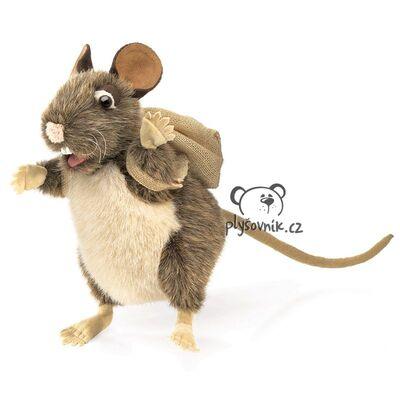 Plyšová hračka: Potkan s batůžkem plyšový | Folkmanis