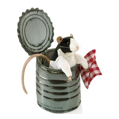Plyšová hračka: Potkan v plechovce plyšový | Folkmanis