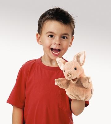 Plyšová hračka: Prasátko maňásek na ruku plyšový | Folkmanis