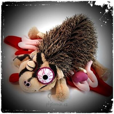Plyšová hračka: Přejetý ježek (limitovaná edice) - EMO plyšový   RoadKill Toys