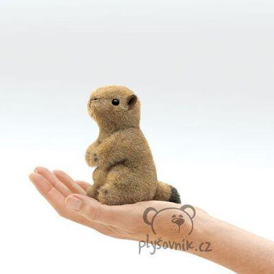 Plyšová hračka: Psoun prériový na prst plyšový | Folkmanis