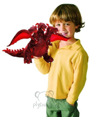 Plyšová hračka: Rudý tříhlavý drak plyšový | Folkmanis