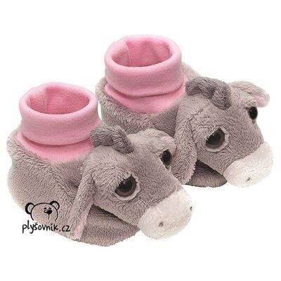 Plyšová hračka: Růžové dětské botičky Oslík plyšové | Suki Gifts