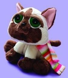 Plyšová hračka: Siamská kočka Seonmi s šálou plyšová | Russ Berrie