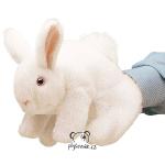 plyšový Bílý králík maňásek