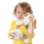 plyšový Stojící králík beránek