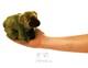 Plyšová hračka: Maňásek na prst medvěd grizzly plyšový, Folkmanis