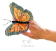Plyšová hračka: Motýl na prst plyšový, Folkmanis