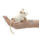 Plyšová hračka: Bílá myš na prst plyšová, Folkmanis