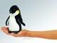 Plyšová hračka: Maňásek na prst tučňák 1+1 ZDARMA plyšový, Folkmanis