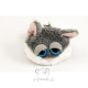 Plyšová hračka: Klíčenka kočka šedá plyšová, Russ Berrie