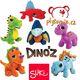 Plyšová hračka: Červený Dimetrodon menší plyšový, Suki Gifts