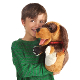 Plyšová hračka: Maňásek pes plyšový, Folkmanis