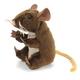 Plyšová hračka: Hnědá myš na prst plyšová, Folkmanis