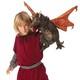 Plyšová hračka: Černý drak plyšový, Folkmanis