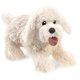 Plyšová hračka: Bilý chlupatý pes plyšový, Folkmanis