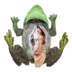 Plyšová hračka: Žabí cyklus plyšový, Folkmanis
