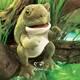 Plyšová hračka: Žába skokan volský plyšák, Folkmanis