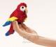 Plyšová hračka: Papoušek ara na prst plyšový, Folkmanis