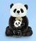 Plyšová hračka: Panda s miminkem plyšová, Russ Berrie