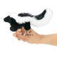 Plyšová hračka: Skunk na prst  plyšový, Folkmanis