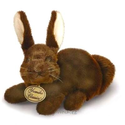 Plyšová hračka: Tmavě hnědý zajíc plyšový | Russ Berrie