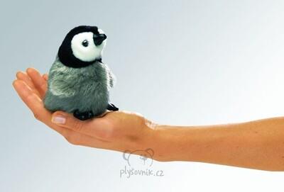 Plyšová hračka: Tučňák císařský na prst plyšový | Folkmanis