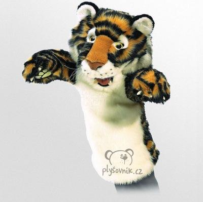 Plyšová hračka: Tygr maňásek na ruku plyšový | Folkmanis