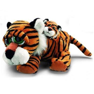 Plyšová hračka: Tygr Tuffley s miminkem plyšový | Russ Berrie